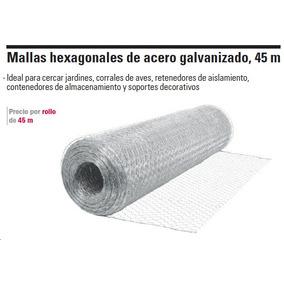 Tejido malla hexagonal galvanizado gallinero 19 mm x 100 - Malla de acero galvanizado ...