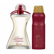 Kit Aerosol + Perfume Des. Colônia Boticario Glamour Myriad