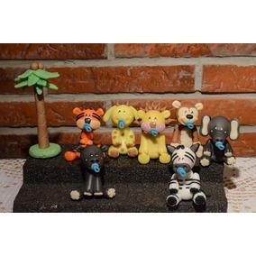 Souvenir/adorno De Torta Animales En Porcelana Fría