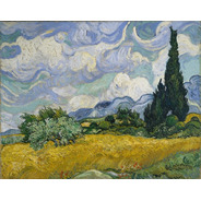 Van Gogh Foto Gravura 65cmx80cm Wheat Field With Cypresses