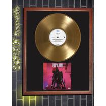 Pearl Jam Ten Tapa De Cd Firmada Por Vedder Y Disco De Oro