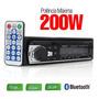 Rádio Som Automotivo Carro Mp3/usb/sd Bluetooth + Controle