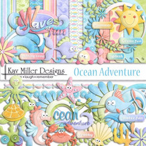Kit Scrapbook Oceano Hello Kitty Png