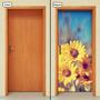 Adesivo Decorativo De Porta - Girassol - Flor - 463mlpt