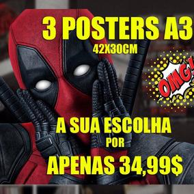 Poster Cartaz Decorativo Kit 3 Posters A Sua Escolha A3