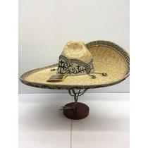 Sombrero Charro Paja De Trigo Modelo Montura