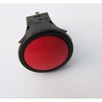 Interruptor Push Button 1a-250va Vermelho Liga E Desliga