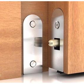 Veda Porta Automático Interno 82cm Alumínio Silicone Pino