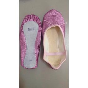 Sapatilha De Ballet Com Glitter $18,70