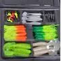 Kit C/35 Iscas Artificiais Soft Bait Jig Shad Head Tucunare
