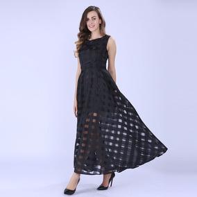 Vestido Longo Preto - Social Ou Casual