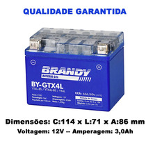 Bateria Honda 100 C 100 Dream Original Brandy Gel Gtx4l
