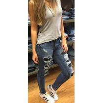 Calça Jeans Skinny Destroyed Revanche