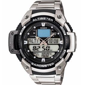 Relógio Casio Outgear Sgw-400 Hd Altimetro Barometro Aço Pt