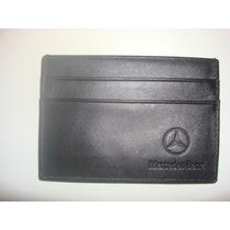 Porta Tarjetas Y Documentos Mercedes Benz-cuero