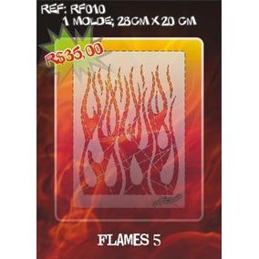 Molde Vazado True Fire Aerografia E Pinturas Rf010