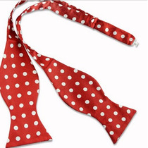 Humita Papillon Rojo Puntos Blanco, Para Traje,camisa,formal
