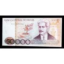 Cédula 50000 (cinquenta Mil) Cruzeiros 1985 Flor De Estampa