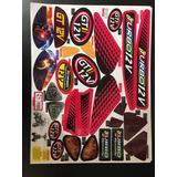 Cartela De Adesivos Moto Gt2 Pink Ref 2562