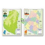 Mapa Mural Provincia De Entre Ríos - Físico/político
