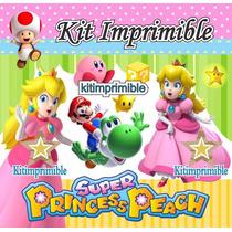 Kit Imprimible Princesa Peach Invitaciones Souvenirs