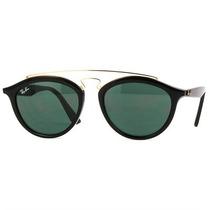 Óculos De Sol New Gatsby Preto Com Lente Verde Escura