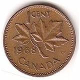 1 Un Centavo Canadá Diferentes Años