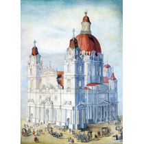 Lienzo Tela Plano Arquitectónico Iglesia Barroca Monumental