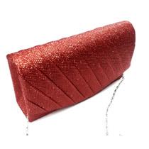 Bolsa Carteira Clutch Festa Bolsinha Casamento Luxo Vermelha