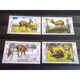 Mongolia - Estampillas 1227/30 Mint Tema Fauna Tipicas