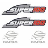 Kit Adesivos Dafra Super 100 2008 2009 2010 Preta