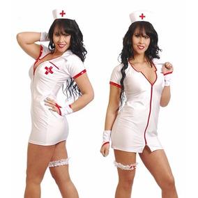 Disfraz De Enfermera En Lycra Dupont Premium - Modelo 1