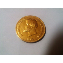 O052 Brasil Moeda Antiga 10 Mil Réis 1865 Rara Ouro