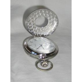M37 Reloj De Bolsillo Plateado Con Tapa Decorada En Relieve