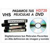Pasamos Videos Vhs Y Audio A Dvd Alta Calidad Precio Por Vhs