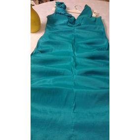 Vestido De Fiesta Tafetán Verde Y Chaqueta(los Dos)