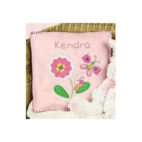 Kit De Fieltro Para Elaborar Cojín Infantil Rosa Flores