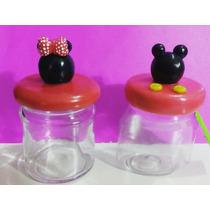 Frascos Dulceros Mickey Y Minnie Por Pedido