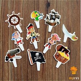 Fiesta Jake Y Los Piratas Toppers Pastel Envio Gratis