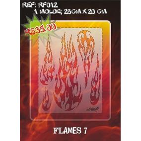 Molde Vazado True Fire Aerografia E Pinturas Rf012