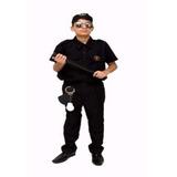 Fantasia Policial Bope Tropa Elite Juvenil Infantil 08 Ao 16