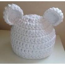 Gorro Crochet Orejas Tejido A Mano Niñ@s Bebes