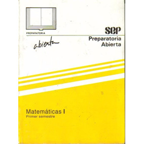 Libro Matemáticas I Preparatoria Abierta + Envío