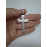 Pingente De Cruz Crucifixo Masculino De Prata 950