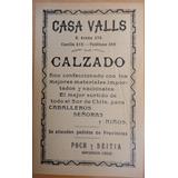 Publicidad Antigua Casa Valls Calzado Concepción