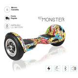 Skate Patineta Electrica 10 Pulgadas Bluetooth