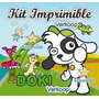 Kit Imprimible Doki Candy Bar Invitaciones Etiquetas