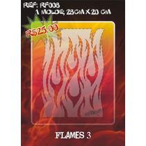 Molde Vazado True Fire Aerografia E Pinturas Rf008