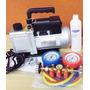Kit Bomba De Vacuo Manifold R22 / R134 Kit Instalação