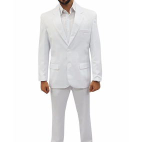 Terno Branco Microfibra Masculino 42 Ao 58